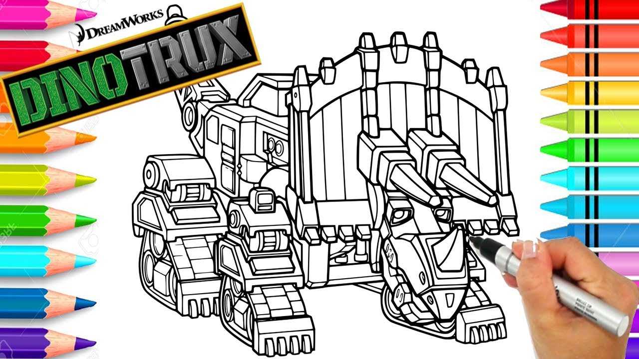 dinotrux dozer coloring page  dinotrux coloring book