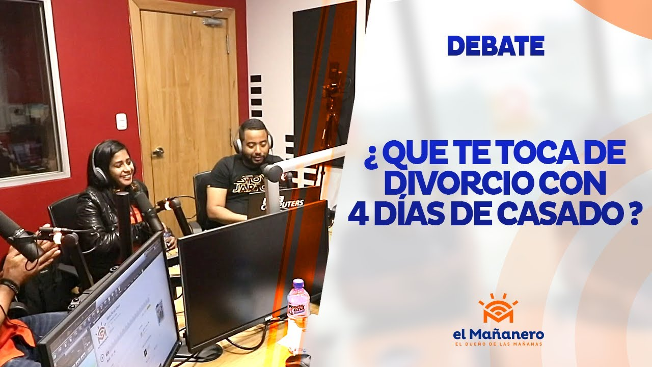 Con 4 dias de casados, ¿que le toca a una gente que se divorcia?