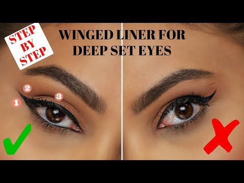 WINGED EYELINER FOR DEEP SET / HOODED EYES | STEP BY STEP TUTORIAL