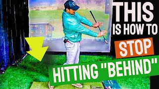Swing Through Low Hands for Better Impact - STOP HITTING BEHIND THE GOLF BALL