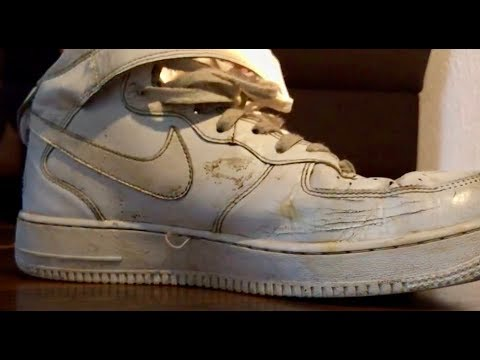 Dirty, Trashed and Well Worn White Nike Air Force One - Shoeplay