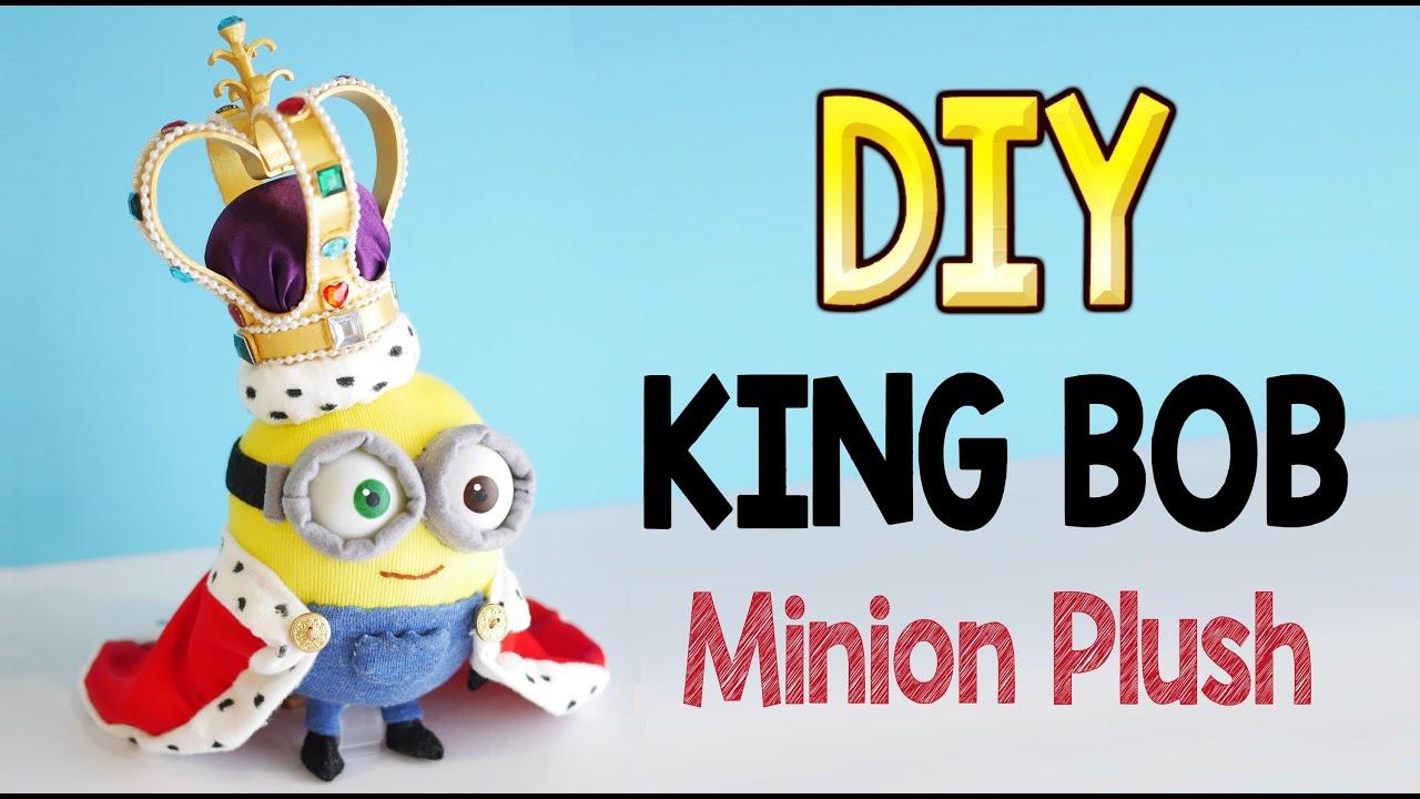 DIY King Bob Minion Plush (Free Pattern!) Fun Craft!   YouTube