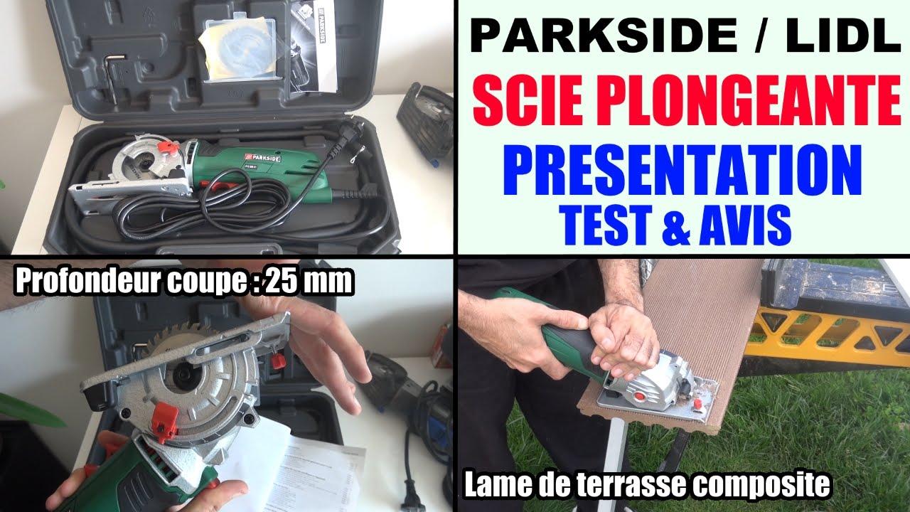 scie plongeante parkside pts 500 a1 circulaire lidl plunge saw
