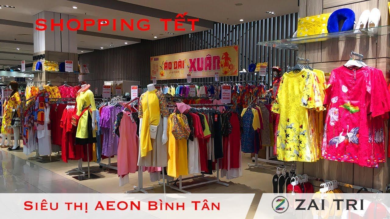 Áo Dài Xuân rất đẹp mua sắm đi chơi Tết 2018 ở siêu thị Nhật Bản Aeon Mall Bình Tân | ZaiTri