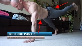 Bird Dog Push Up