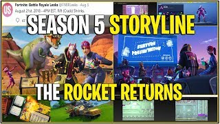 *NEW* Fortnite: SEASON 5 STORYLINE SO FAR! *Leaked Rocket Is Returning* | (v5.2 Update)