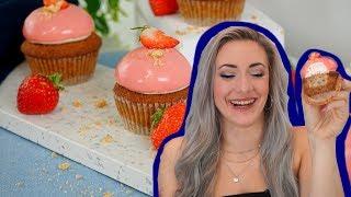 Ich habe versucht ein Rezept von Cupcake Jemma nachzumachen - Erdbeercupcakes DIY - Kuchenfee