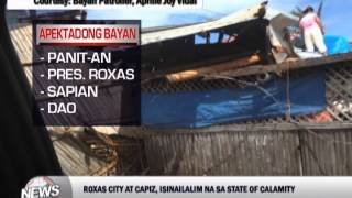 Roxas City, Capiz placed under state of calamity