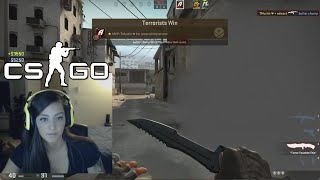 NICE AIM HACKS GIRL (CS:GO Comp)