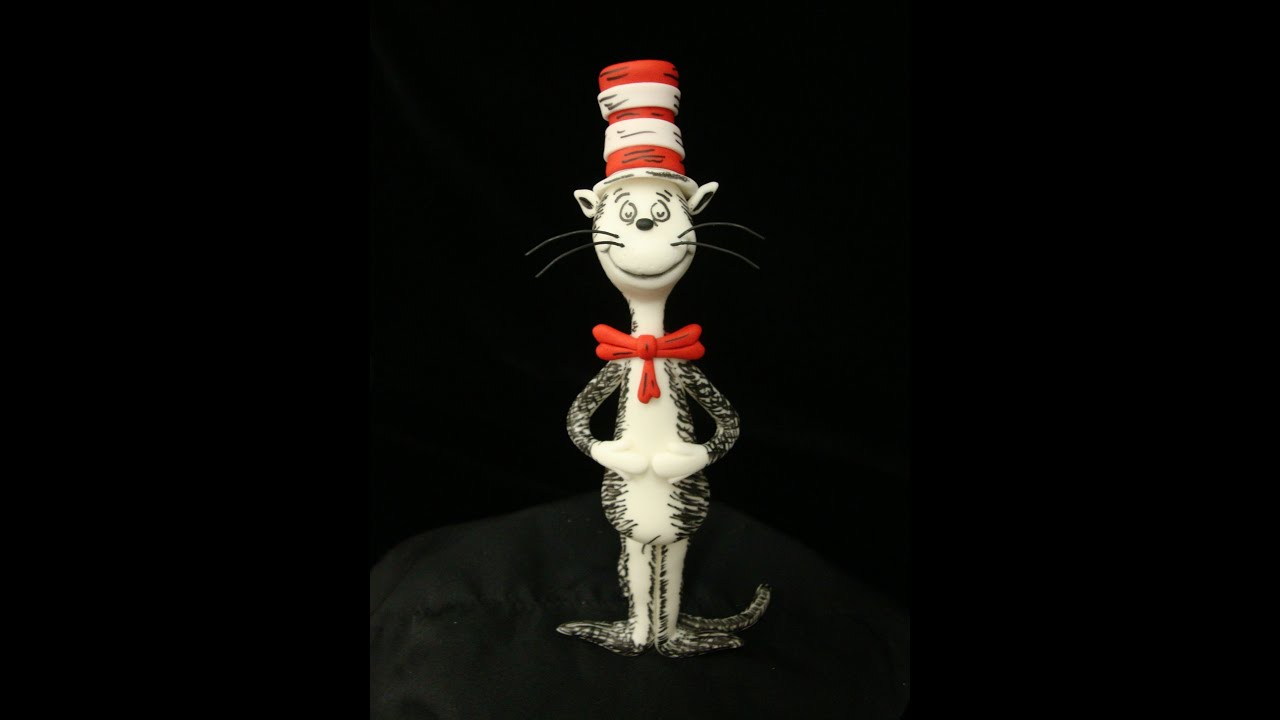 How To Make A Cat In The Hat Cake Topper Youtube