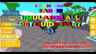 Saber Simulator All Pet Guide Part 45 All Pets From Island 96