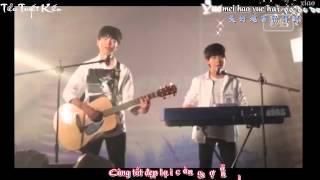 [TTK][Vietsub-Kara-Lyrics][Fancam] 明天 你好/Xin chào ngày mai-Khải Nguyên Guitar Piano ver [09062015]