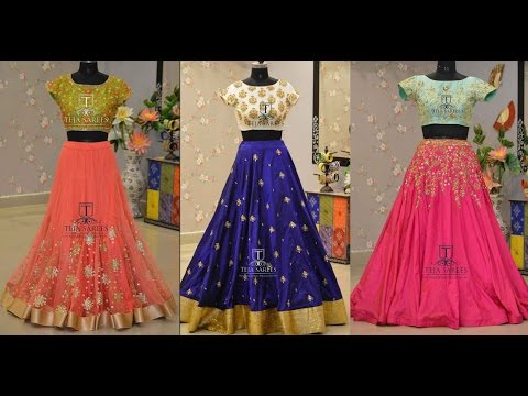 Crop Top With Skirt Indian Designs