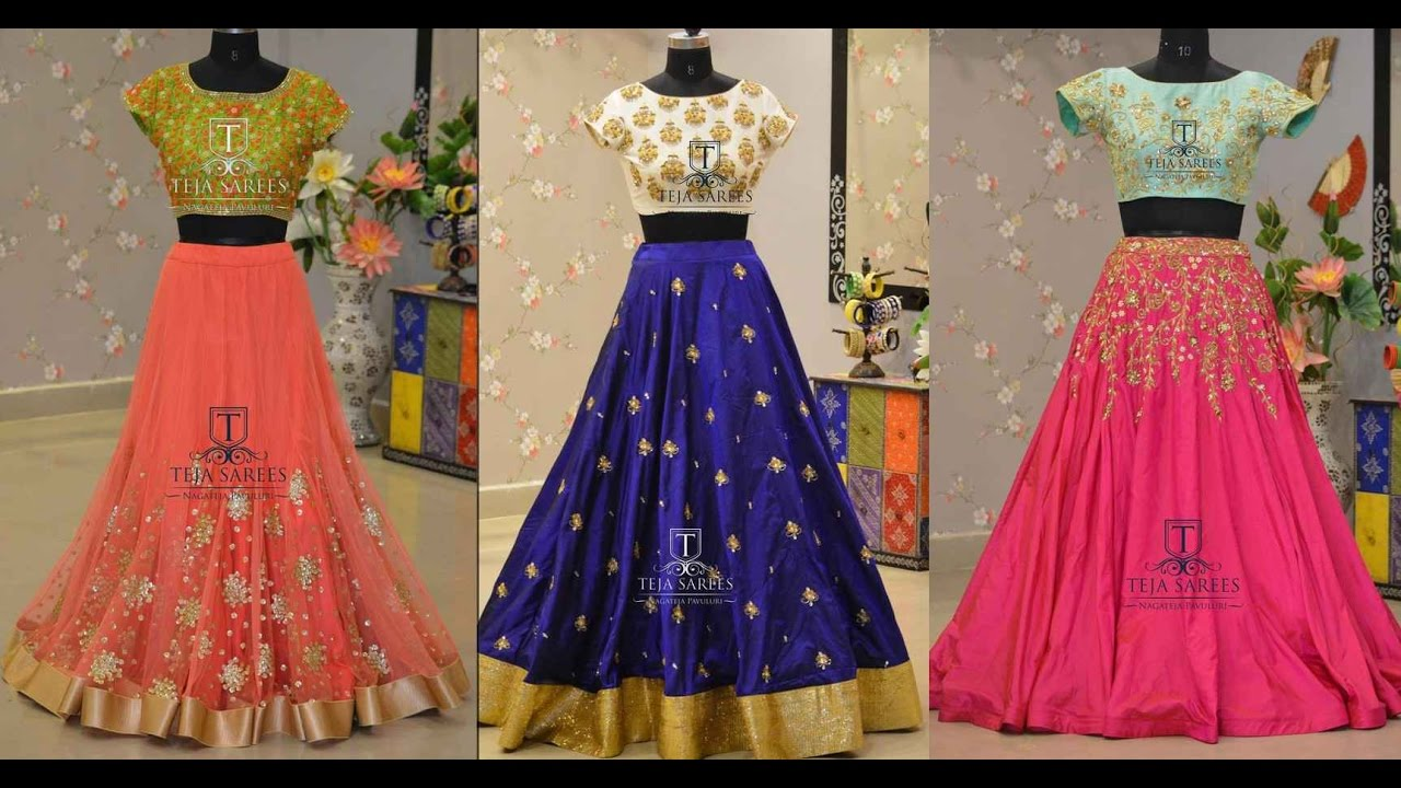 cc77f7ac55c8ed Crop Top With Skirt Indian Designs - YouTube