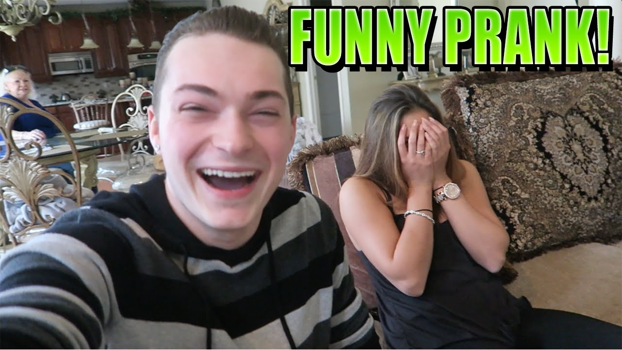 sister pranks naked