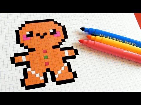 Handmade Pixel Art How To Draw Kawaii Gingerbread Man Pixelart