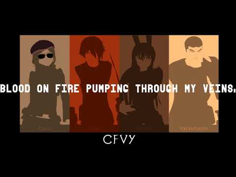 RWBY Volume 2 CFVY Introduction Lyrics (Caffeine)