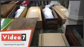 بالفيديو..بدء صلاة الجنازة على ضحايا طاقم