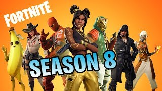 FORTNITE Season 8 BATTLE PASS : Detail Review || All Skins, Emotes, Gliders, And More!