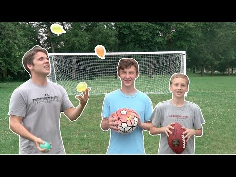 Trick Shot Challenge! | That's Amazing and JugglinJosh