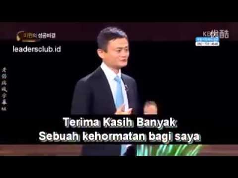 TIPS BISNIS : Pesan JACK MA inspirasi SUKSES dengan VISI ( dengan teks terjemahan bahasa indonesia )