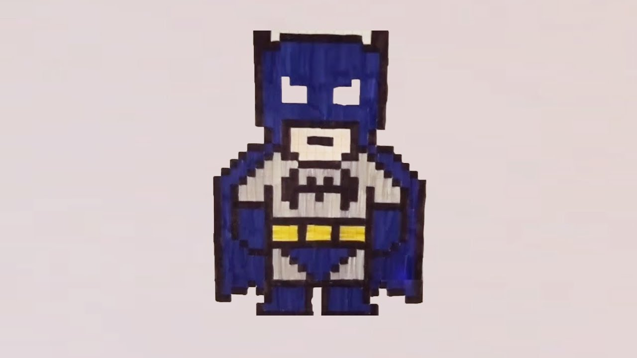 Comment dessiner batman pixel art youtube - Dessiner batman ...