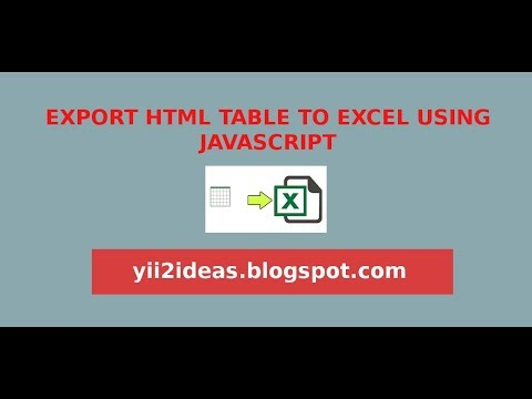 export html table to excel