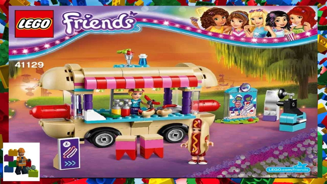 Lego Instructions Lego Friends 41129 Amusement Park Hot Dog Van