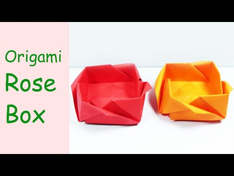 Mothers Day Gift Origami Rose Box     DIY Paper Crafts   DIY Handmade