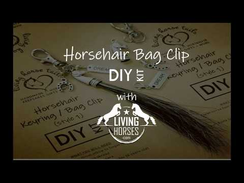 DIY Horsehair Bag Clip Keyring with Living Horses