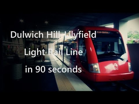 Dulwich Hill-Lilyfield Light Rail Line in 90 seconds