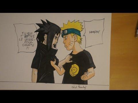 Dessin de sasuke et naruto kid drawing kid sasuke and - Dessin naruto et sasuke ...