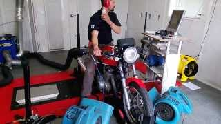 1981 Suzuki GS450E Cafe Racer Dyno Run June 2013 Good Sound