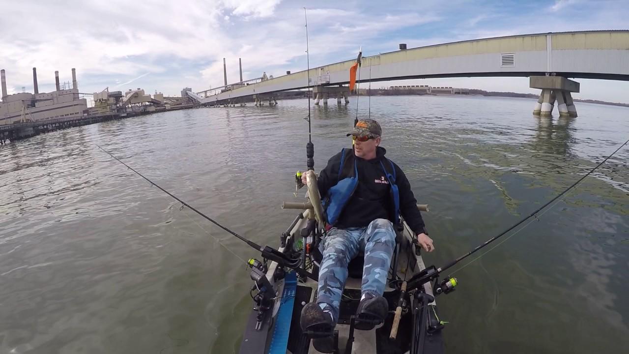 Chesapeake bay kayak fishing youtube for Chesapeake bay fishing