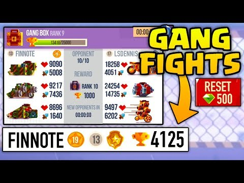 C.A.T.S GETTING 4125 TROPHIES IN GANG FIGHTS  Crash Arena Turbo Stars