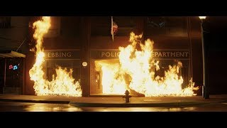 Three Billboards Outside Ebbing, Missouri - Police Station On Fire Scene (HD)