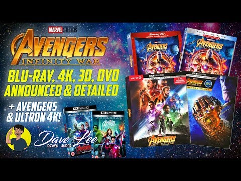 AVENGERS: INFINITY WAR - Blu-ray, 4K, 3D, DVD Announced & Detailed (+ AVENGERS & ULTRON 4K)