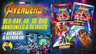 AVENGERS: INFINITY WAR - Blu-ray, 4K, 3D, DVD Announced & Detailed (+ AVENGERS & ULTRON 4K)