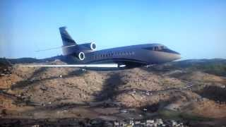 DASSAULT FALCON 7X MARSEILLE PROVENCE AIRPORT APPROACH