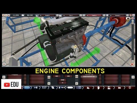 ANIMASI 19 Komponen Utama Mesin Bensin dan Mesin Diesel