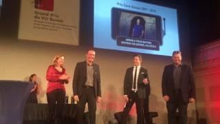 Überreichung des Preises Weingut des Jahres 2007-2016 an Diego Mathier