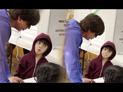 Shah Rukh Khan's Son AbRam Khan Makes Cute Faces As He Learn How To Do Voting