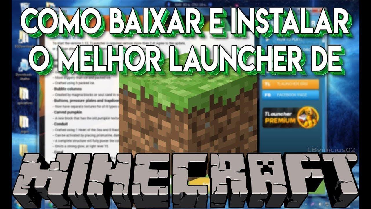 Como baixar e instalar o minecraft tlauncher (Tutorial) - YouTube