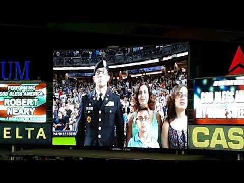 """God Bless America"" @ Yankee Stadium game 4 ALDS 10/9/17"