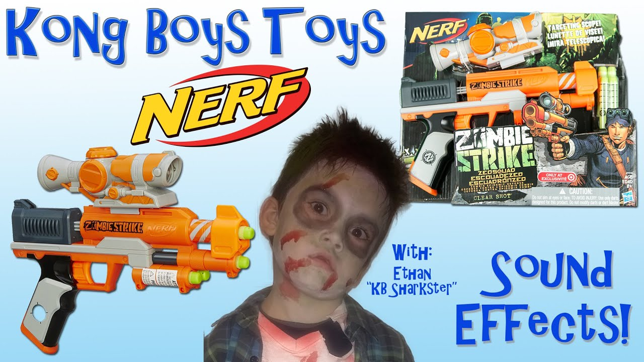 Nerf Zombie Strike ZED Squad Clear Shot Blaster Tar Exclusive Close up Unboxing and Toy Review
