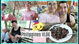 PHILIPPINES VLOG DAY 13 | HUBBY TRIES DINUGUAN + BIGAYAN NG REGALO ❤️ | rhazevlogs