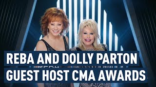 Carrie Underwood Hosts CMA Awards with special guest hosts Reba & Dolly