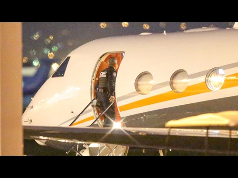 Custom Agents Check The Kardashian's Private Plane Upon Return From Costa Rica