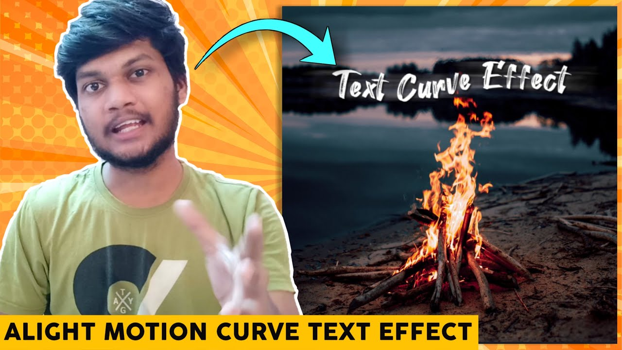 CURVE TEXT ANIMATION EFFECT || HOW TO MAKE LYRICS VIDEO IN ALIGHT MOTION