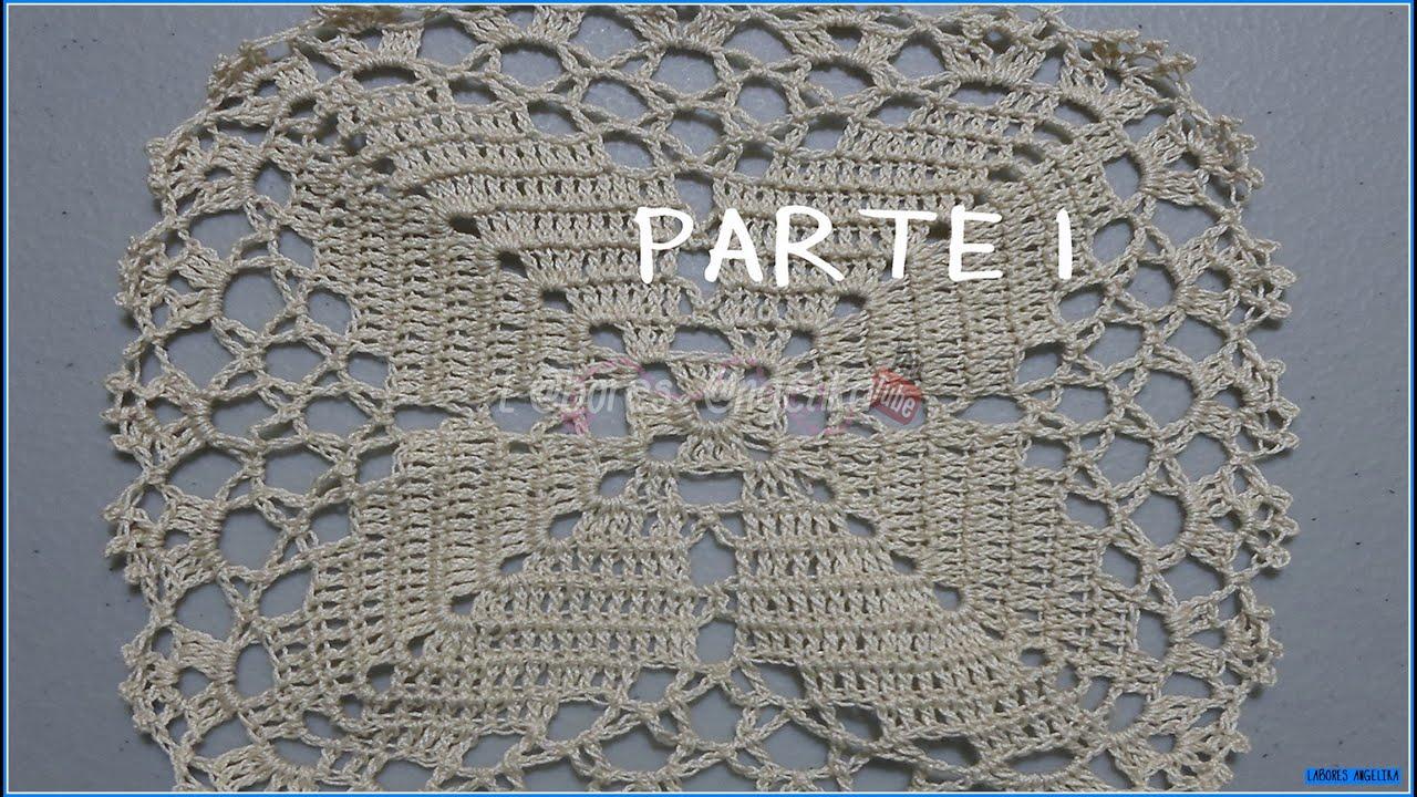Parte 1de 4 cuadro o pastilla para mantel a crochet - Mantel de crochet ...